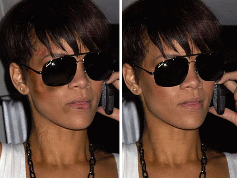 Rihanna Without Makeup On. Rihanna realizes what